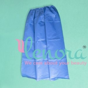 blue disposable facial Gown
