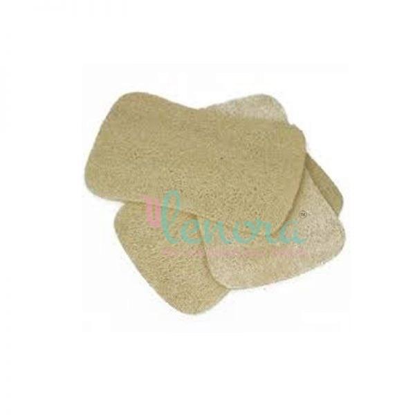 Flat compressed natural loofah