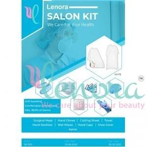 lenora salon kit white apron